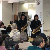 サポートセンター本城で演奏をしました